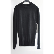 Round Neck Pure Color Knit Pullover Sweater for Men
